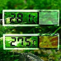 Aquarium Thermometer Meters LCD 3D Crystal Digital Measurement Fish Tank Reptile