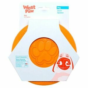 West Paw Zogoflex Zisc Durable Floating Dog Frisbee  - Small Orange