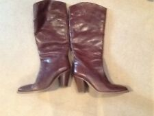 Next brown leather pull on boots size 6.5 (EU 40)
