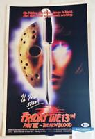 KANE HODDER SIGNED 11x17 CHROME PHOTO PRINT JASON FRIDAY 13TH BAS COA 885