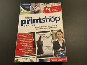 Broderbund Printshop Deluxe Version 5 Desktop Publishing Software PC New in Box