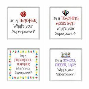 I'm A TEACHER/TEACHING ASSISTANT/PRESCHOOL TEACHER/DINNER LADY Fridge Magnets