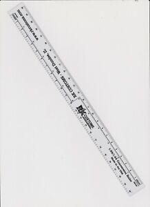 1/24 1/25 scale conversion ruler