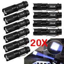 20PCS Ultrafire Tactical 10000LM Q5 Waterproof LED Flashlight Zoom Torch Lamp US