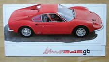 FERRARI DINO 246 GT PININFARINA original 1969 Sales Brochure - 246GT - #29/69