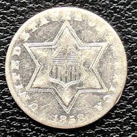 1858 Three Cent Piece Silver Trime 3c High Grade #20192