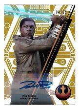 2016 Topps Star Wars High Tek Gold Rainbow Autograph John Boyega as Finn #8/50