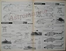 SEA KING COMMANDO & LYNX -  Warpaint 1.72 Scale PLAN Drawings Aviation News 1976