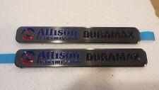 2 New SMOKED BLACK Duramax Diesel Allison Silverado Sierra Truck Badges