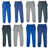 New Mens Two Design Fleece Joggers, Tracksuit Bottoms, Track Sweat Jogging Pants