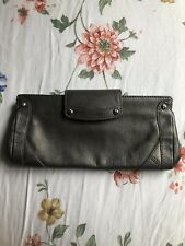 Cole Haan Gray Pebbled Leather Clutch, Handbag, Evening Bag,  NWOT