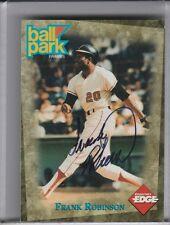 1995 BALL PARK FRANKS FRANK ROBINSON AUTOGRAPH W/COA BALTIMORE ORIOLES HOF 1126
