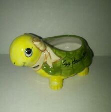 Vintage Josef Original Ceramic Egg Separator Turtle Rare