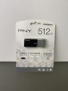 PNY USB 3.0 Flash Drive, 512GB, Black, P-FD512ELEDGE-GE