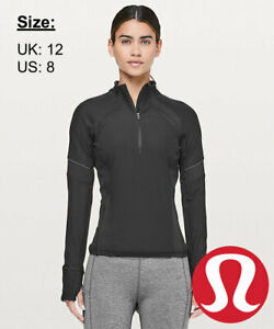 Lululemon Women's Brisk Breeze 1/2 Zip - Black - UK 12 US 8