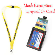 Travel & Shopping Mask Exemption Card Layard Disability Health ID Card Holding