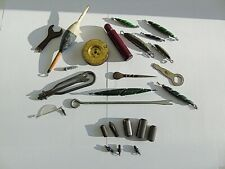 ODDS AND SODS VINTAGE FISHING GADGETS ETC incl. a PALMER DRY FLY OILER