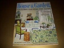 Vintage HOUSE & GARDEN Magazine, April, 1966, BIG PARTY COOK BOOK, MID-CENTURY!