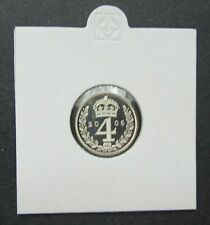 More details for 2006 maundy 4 penny 4d - elizabeth ii silver proof (.925) free p&p