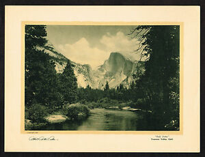 1920s Vintage Albert Arthur Allen Yosemite Valley Half Dome Photo Gravure Print