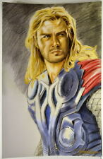 MIGHTY THOR / CHRIS HEMSWORTH Print HAND SIGNED by Artist Todd Tuttle w COA