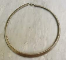 """Sterling Silver Tapered Flex Link Necklace 17-1/2"""" ~ 34.7grams ~ 4-H275"""