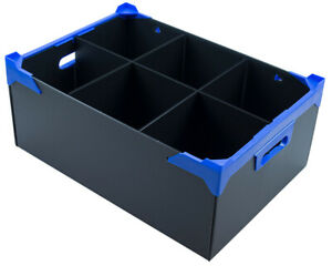 Water Jug Glassware Storage Box - With 6 Sections - Compartment Size H190xD160mm