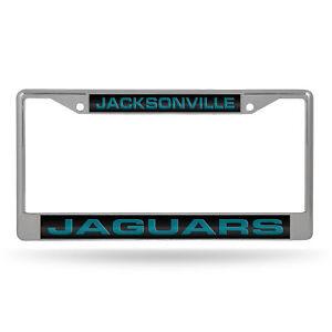 Jacksonville Jaguars Chrome Metal Laser Cut License Plate Frame