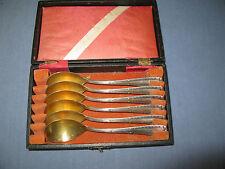 6er Satz Art-Deco-Eislöffel v. der Hanseatische Silberwarenfabrik Bremen Silber