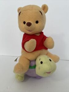 """Fisher-Price Baby Winnie The Pooh Riding Turtle Musical And Rolling Plush 12"""""""