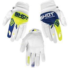 Shot Adult Contact MX Motocross Gloves Trust Blue White - XL