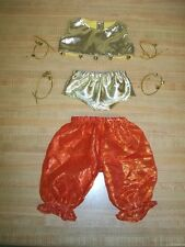 "16"" CPK Cabbage Patch Kids BELLY DANCE outfit only TOP PANTY PANTS 4 SETS BELLS"