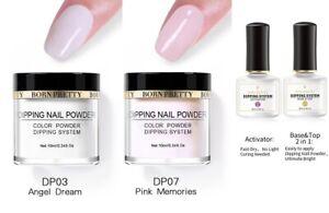 4 Pcs Nail Art Dipping Powder Liquid Polish Starter Kit