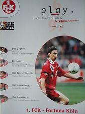 Programm 1996/97 1. FC Kaiserslautern - Fortuna Köln