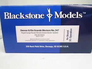 Blackstone BB10203 HOn3 2-6-0, D&RGW 347,