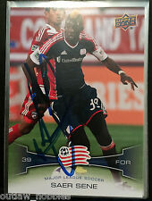 New England Revolution Saer Sene Autographed Signed 2012 UD Upper Deck Card