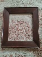 Vintage Large Dark Fumed Oak Mission Arts Crafts Frame Photograph Picture 13x15