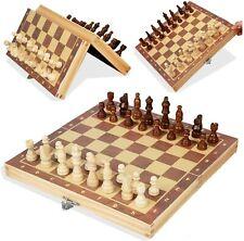 Schachspiel Schach Schachbrett Holz 29 cm Chess Board Set Reiseschach Geschenk