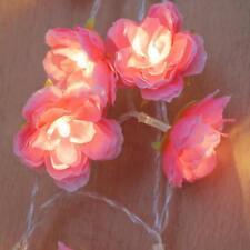 2m 20-led Battery Operated Rose Flower String Fairy Light Diwali DIY Decor
