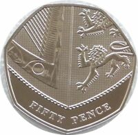 2019 Royal Mint Royal Shield of Arms BU 50p Fifty Pence Coin - Fifth Portrait