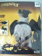 Pet Dog Cat     Bat Halloween Costume  Fancy Dress Outfit Wings  SIZE XS