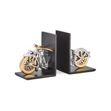 Pendulux Motorcycle Bookends Aluminum - Vintage LOOK