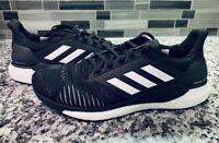adidas Solar Glide ST Men 10 Black Running Shoes Mid Top Mesh Sneaker CQ3178
