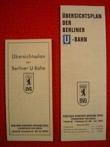 BVG BERLIN - ÜBERSICHTSPLAN BZW. NETZSPINNE DER BERLINER U-BAHN - 1965 & 1970