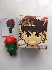"BOXED 3"" SMALL KIDROBOT STREET FIGHTER SERIES 1 BLANKA GREEN ACTION FIGURE"