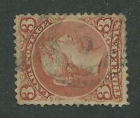 """CANADA #25 USED LARGE QUEEN 2-RING NUMERAL CANCEL """"5"""" (.02)"""