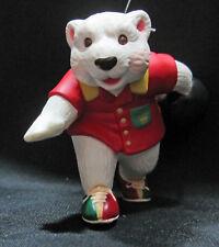 Polar Bowler Bear Christmas Hallmark Keepsake Ornament QX6746 1998 Boxed