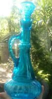 Vintage  Jim Beam Blue   Whiskey Bottle Decanter With Stopper- I 💭Jeannie Style