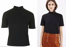 Topshop Patternless Short Sleeve Tops & Shirts for Women