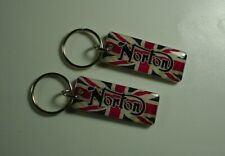 Norton Commando 961 Cafe Racer Motorcycle Key Chain pack of 2